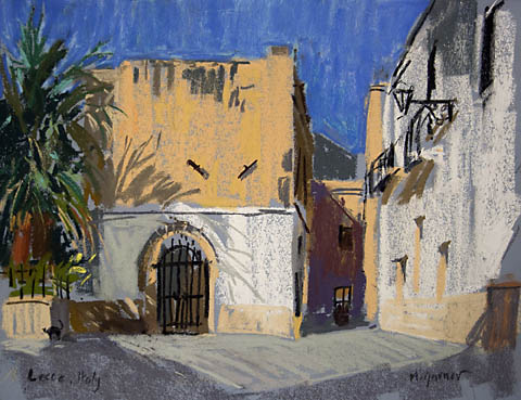 lecca small piazza in pastels
