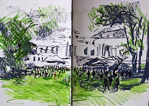 palce garden sketch